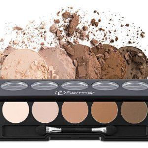 سایه چشم 5 رنگ پالتی فلورمار Flormar Color Palette Eyeshadow - 7