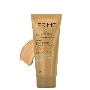 Prime Matex Rejuvenating Oil Free Sunscreen Cream SPF50 Beige