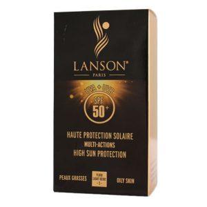 فلوئید ضد آفتاب و ضد چروک با SPF50 رنگ بژ روشن لانسون