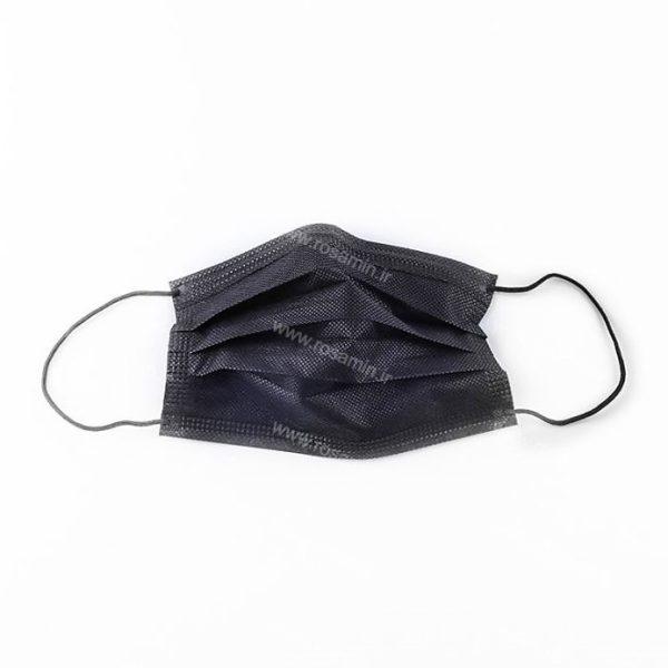 ماسک تنفسی سه لایه مشکی پرستاری ۵۰ عددی