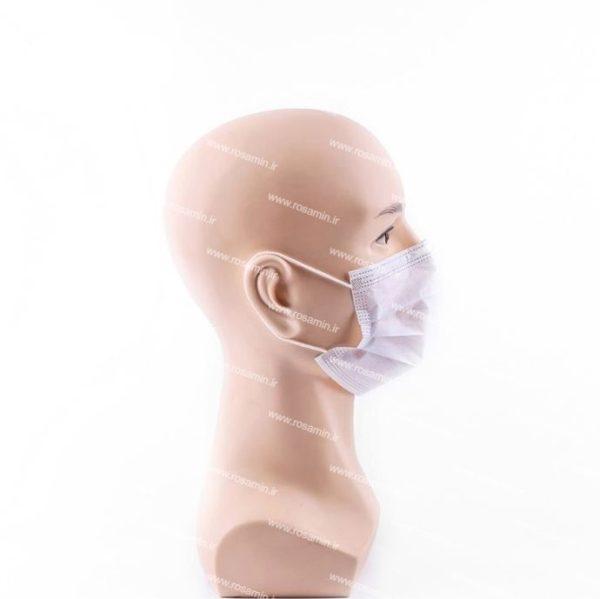 ماسک تنفسی سه لایه سفید پرستاری ۵۰ عددی