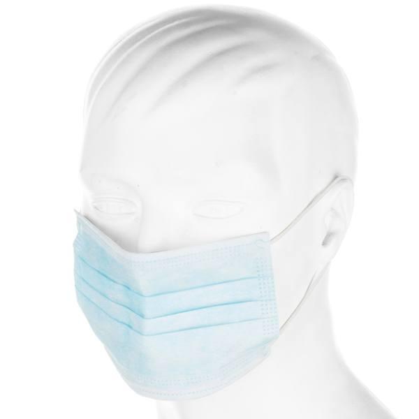ماسک تنفسی ۳ لایه آبی پرستاری ۵۰ عددی