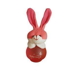 ادکلن بچه گانه عروسکی بیبی لاو مدل خرگوش صورتی کد 17-144