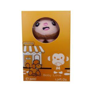 ادکلن بچه گانه عروسکی بیبی لاو مدل میمون کد 11-144