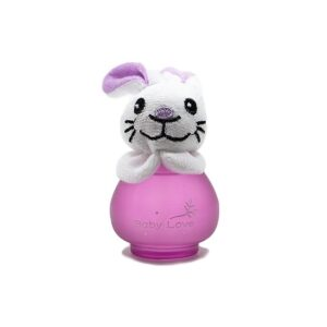 ادکلن بچه گانه عروسکی بیبی لاو مدل خرگوش بنفش کد 13-144