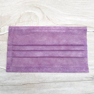 ماسک تنفسی رُزامین سه لایه پرستاری رنگ بنفش بسته 10 عددی