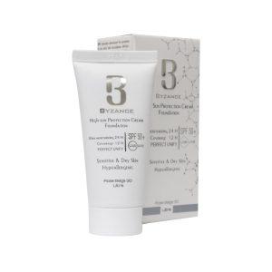کرم ضد آفتاب کرم پودری +SPF50 بیزانس مناسب پوست خشک و حساس ۳۰ میل