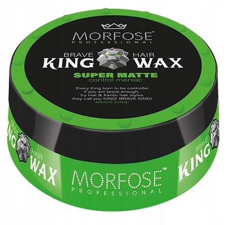 واکس موی مورفوس سبز سری King Wax مدل Super Matte حجم 175 میل