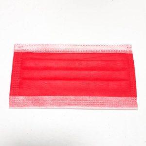 ماسک تنفسی رُزامین سه لایه پرستاری رنگ قرمز بسته 10 عددی