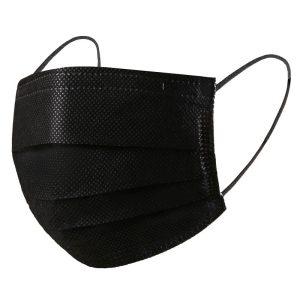 ماسک پرستاری 3EX وارداتی سه لایه ملت ملون دار رنگ مشکی ۵۰ عددی