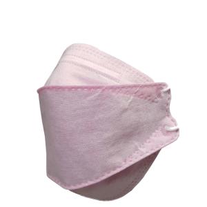 ماسک سه بعدی تنفسی 4 لایه ملت بلون دار رنگ صورتی 25 عددی