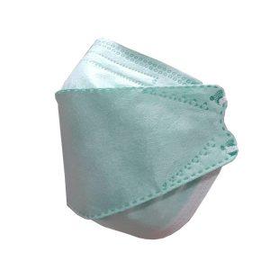 ماسک سه بعدی تنفسی 4 لایه ملت بلون دار رنگ سبز روشن 25 عددی