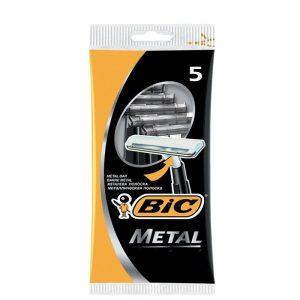 خود تراش 1 تیغه بیک مدل Metal بسته 5 عددی