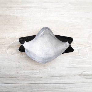 ماسک سه بعدی تنفسی 4 لایه ملت بلون دار رنگ مشکی 25 عددی
