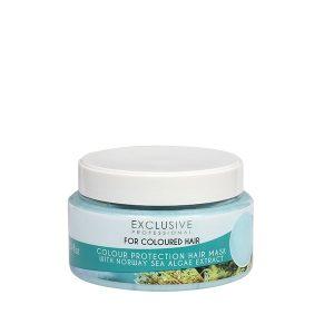 ماسک مو اکسکلوسیو مناسب موهای رنگ شده حاوی عصاره جلبک دریایی حجم 300 میل