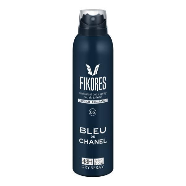 اسپری خوشبو کننده بدن مردانه فیکورس مدل Bleu de Chanel حجم 200 میل