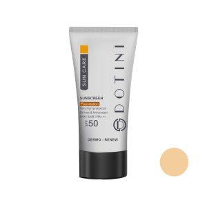 کرم ضد آفتاب رنگی SPF50 فاقد چربی دوتینی حجم 50 میل