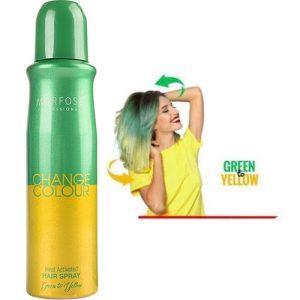 اسپری حرارتی رنگ مو سبز و زرد مورفوس حجم 150 میل